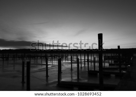 early morning at the pier