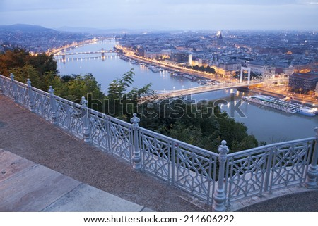 early morning in Budapest city, Hungary - stock photo