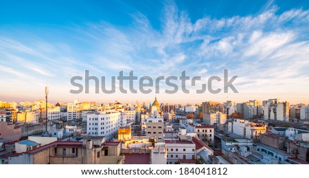 Early morning in Buenos Aires, Argentina - stock photo