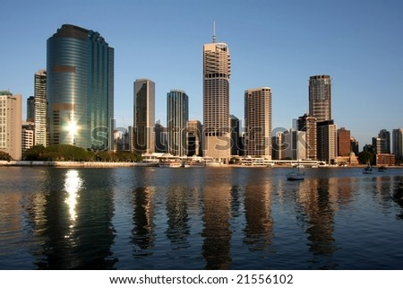 Early morning in city of Brisbane Australia