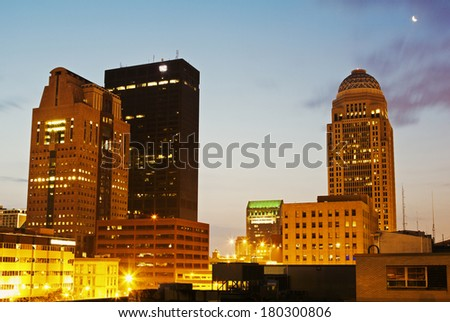 Early morning in Louisville, Kentucky, USA - stock photo