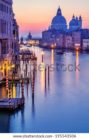 Early morning in Venice - stock photo