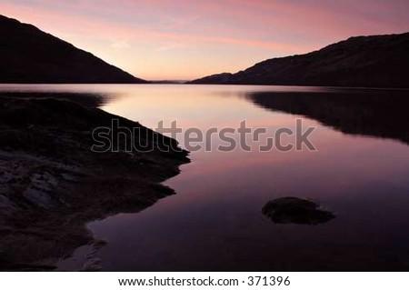 early morning sunrise - stock photo