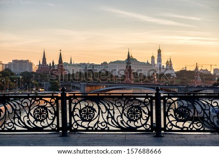 early morning view if the heart of Russia - Moscow Kremlin, Russia. - stock photo