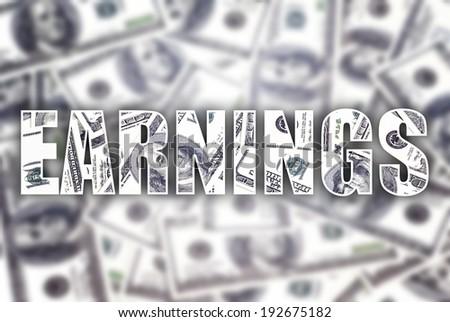 Earnings dollars creative conceptual illustration - stock photo