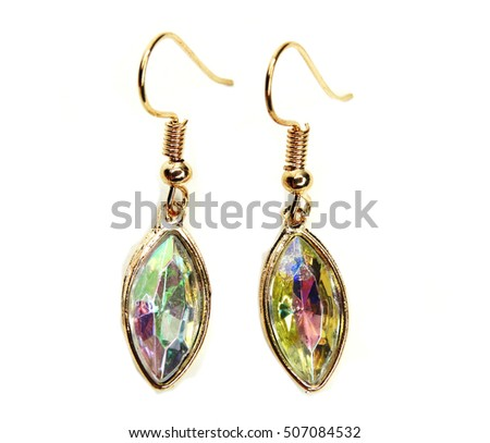 earrings with bright crystals jewellery