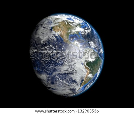 Earth - America - Elements of this image furnished by NASA - stock photo