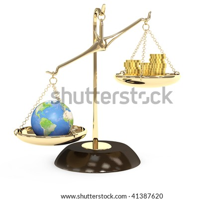 Earth and money - stock photo