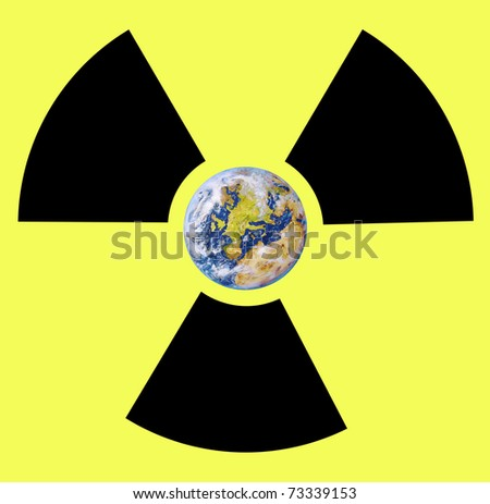 Earth and radiation - stock photo