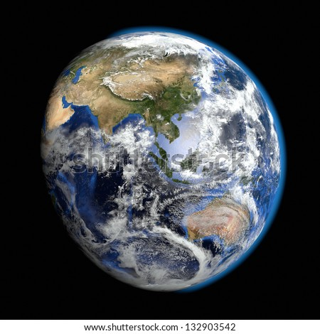 Earth - Asia Pacific - Elements of this image furnished by NASA - stock photo