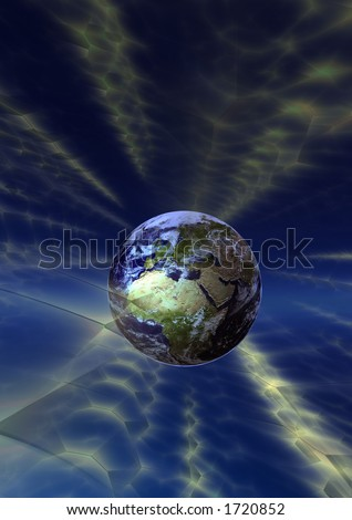 Earth broadcasting - stock photo