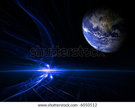 earth chaos - stock photo