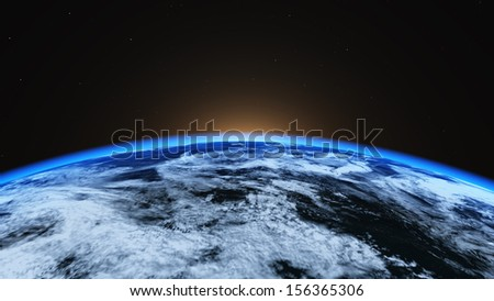 Earth closeup - stock photo