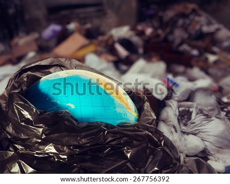 Earth contamination - stock photo