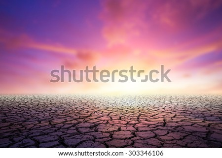 Earth day concept. Drought soil crack - stock photo