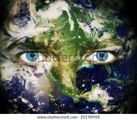 Earth Day. Eyes of the World - stock photo