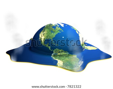 Earth Day.  Global warming. Climate change. - stock photo