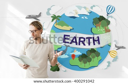 Earth Ecology Environment Conservation Globe Concept - stock photo