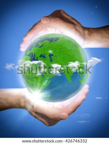 earth. ecology. planet in the hands