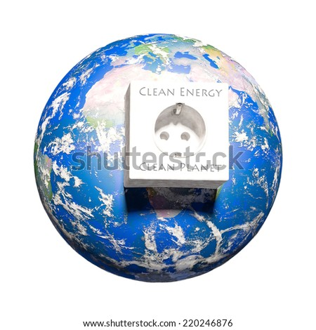 earth energy A symbolic illustration of the possibility to generate clean energy - Elements of this image furnished by NASA. - stock photo