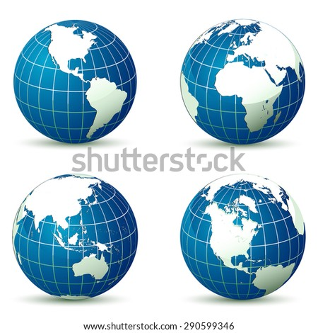 Earth from different angles illustration