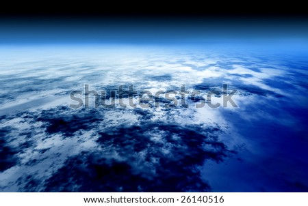 Earth from the sky - stock photo