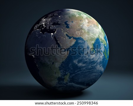 Earth globe - Africa, Europe and Asia - stock photo