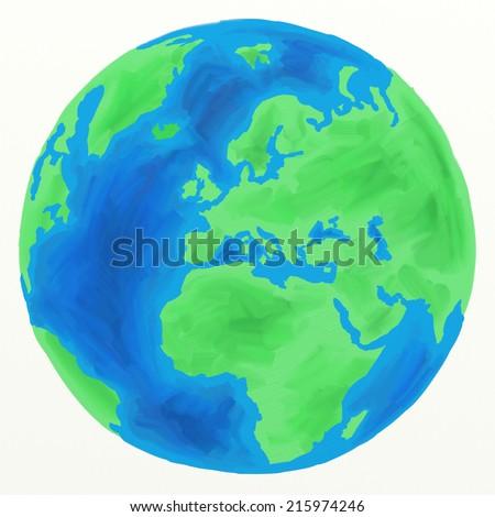 Eastern Hemisphere Globe Earth Globe Eastern Hemisphere
