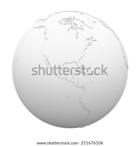 Earth - Globe Image - stock photo
