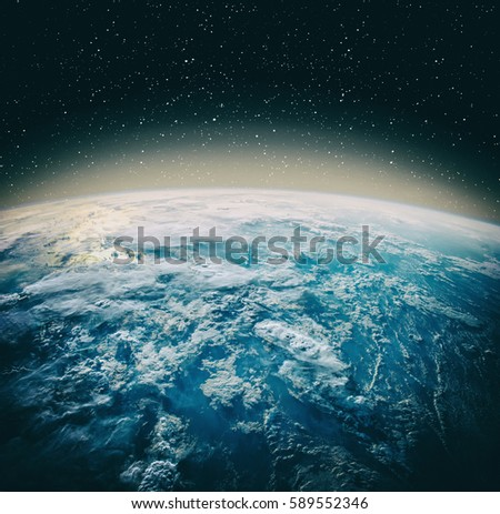 Earth Observation Dramatic View The Elements Stock Photo ...