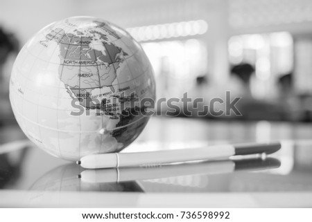 Map third world stock images royalty free images vectors earth globe model america maps in global ball put on tablet with stylus pen for gumiabroncs Image collections