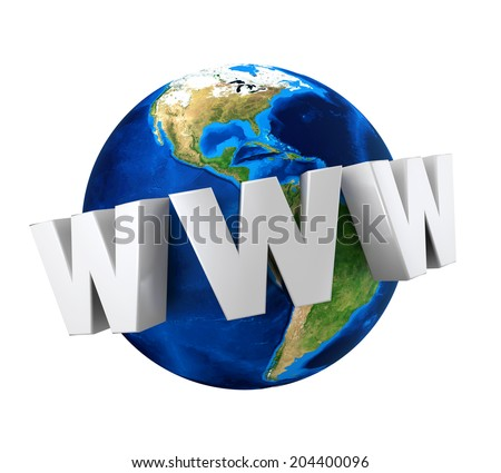"""Earth Globe with Text """"WWW"""" - stock photo"""