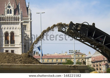 earth handling machines - stock photo