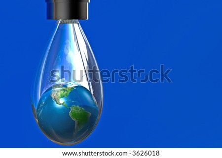 Earth in drop of water map courtesy nasa - stock photo