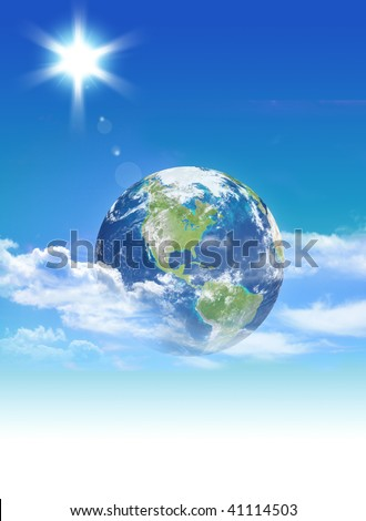 Earth in the sky - stock photo