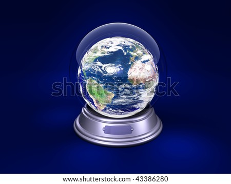 earth is in a glass ball