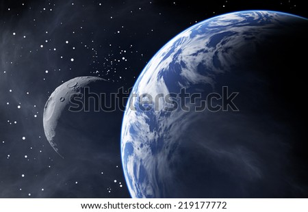 Earth Like Planet with a Moon