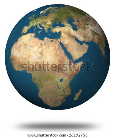 Earth map (Africa)