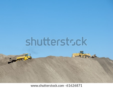 Earth mover in action - stock photo