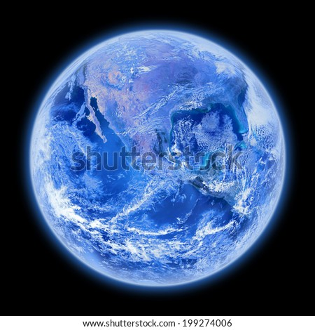 Earth on a dark background. Elements of this image furnished by NASA.