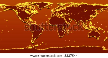 earth on fire - stock photo