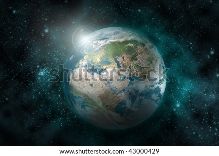 Earth  planet - 3D computer graphics - stock photo