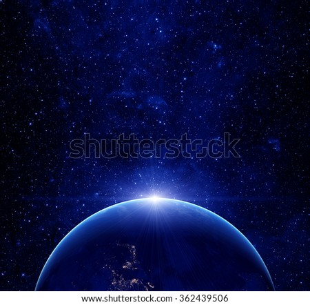 Earth planet. Elements of this image furnished by NASA. - stock photo