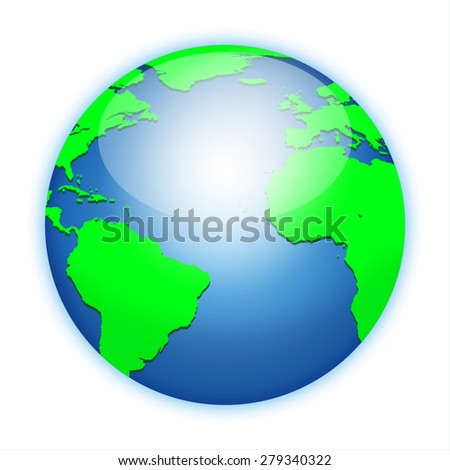 Earth planet globe icon. Highly detailed illustration. Elements of this image furnished by NASA. http://visibleearth.nasa.gov