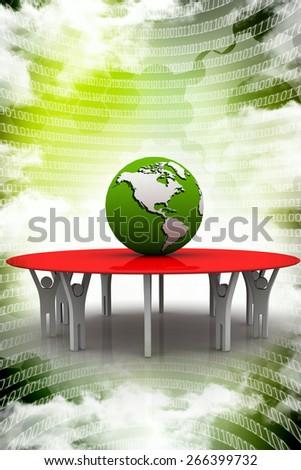 Earth planet globe team leader - stock photo