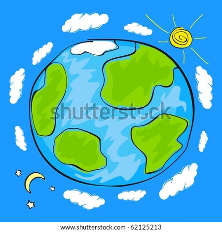 Earth (raster version) - stock photo