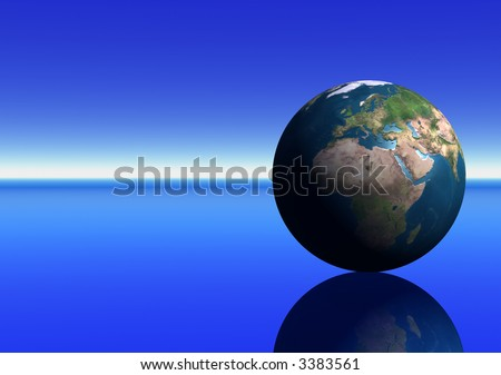 Earth showing Europe and Africa - stock photo