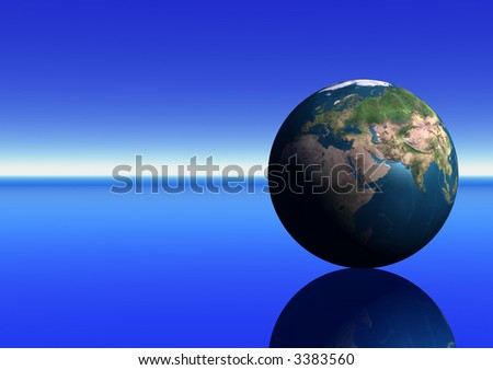 Earth showing the Middle East - stock photo