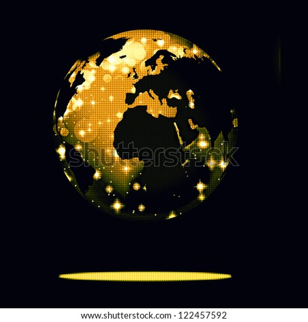 Earth symbol of the new year on our planet. Happy New Year and Merry Christmas - stock photo
