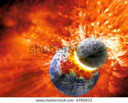 Earth Taking The Knocks - stock photo